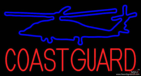 Coast Guard Real Neon Glass Tube Neon Sign