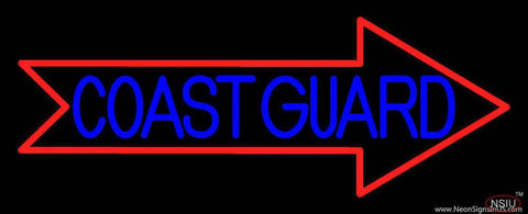 Red Coast Guard Real Neon Glass Tube Neon Sign