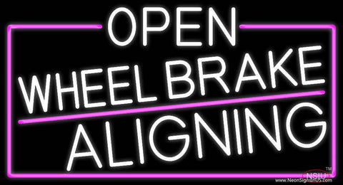 White Open Wheel Brake Aligning With Pink Border Real Neon Glass Tube Neon Sign