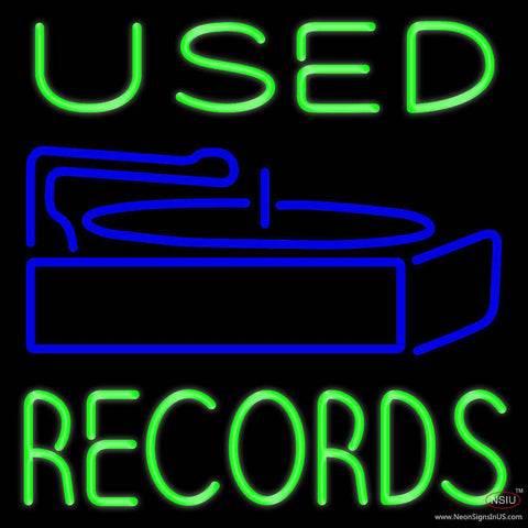 Used Records Real Neon Glass Tube Neon Sign