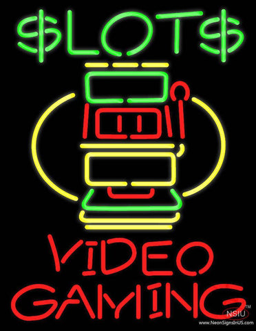 Slots Video Gaming Real Neon Glass Tube Neon Sign