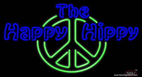 The Happy Hippy Real Neon Glass Tube Neon Sign