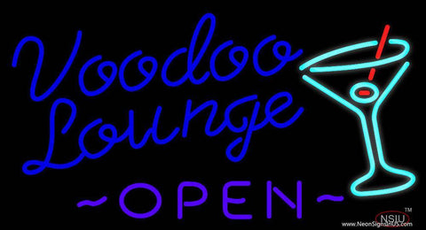 Voodoo Lounge Open Real Neon Glass Tube Neon Sign