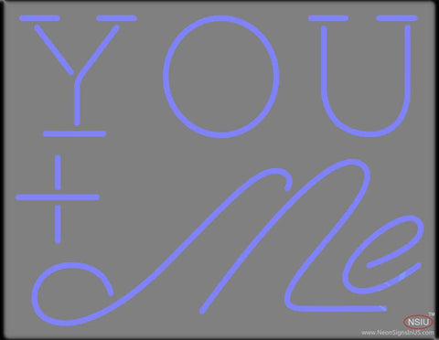You And Me Real Neon Glass Tube Neon Sign