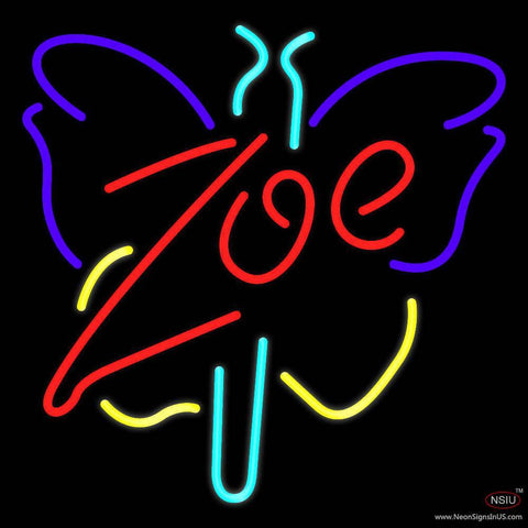 Zoe Butterfly Real Neon Glass Tube Neon Sign