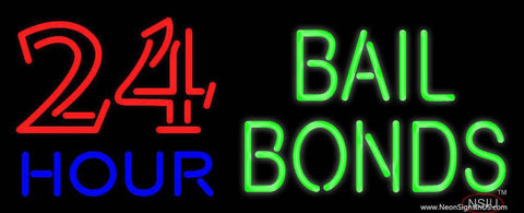 Hour Bail Bonds Real Neon Glass Tube Neon Sign