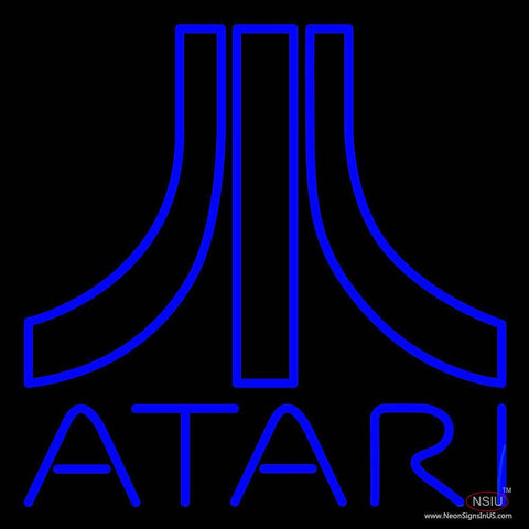 Atari Logo Real Neon Glass Tube Neon Sign