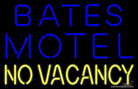 Bates Motel No Vacancy Real Neon Glass Tube Neon Sign