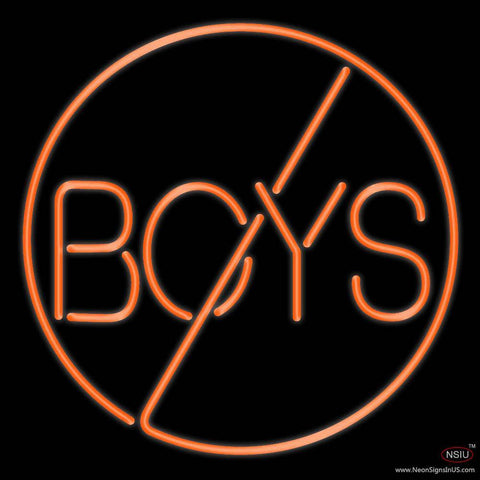 Boys Real Neon Glass Tube Neon Sign