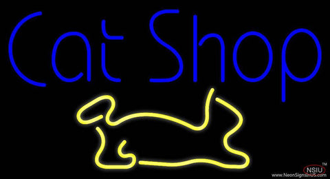 Cat Shop Real Neon Glass Tube Neon Sign