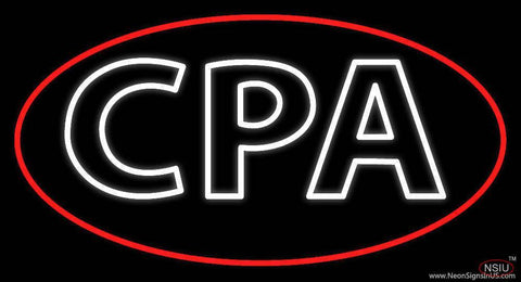 Cpa Double Stroke Oval Border Real Neon Glass Tube Neon Sign