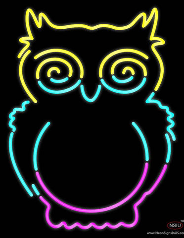 Owl Real Neon Glass Tube Neon Sign