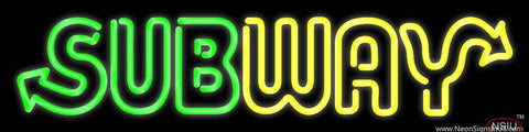 Subway Sandwich Shop Logo Real Neon Glass Tube Neon Sign