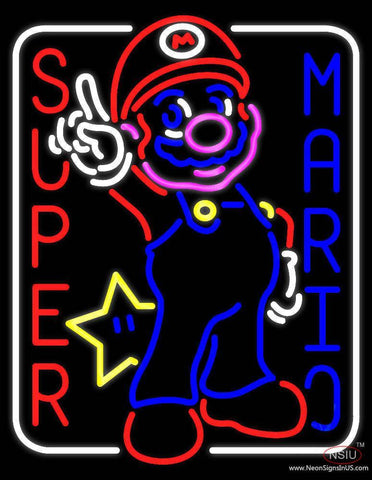Super Mario Real Neon Glass Tube Neon Sign