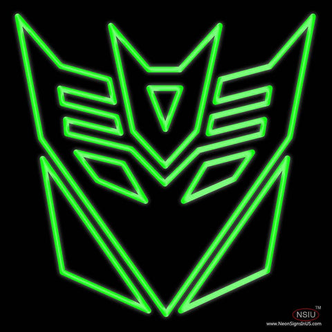 Transformers Deceptions Real Neon Glass Tube Neon Sign
