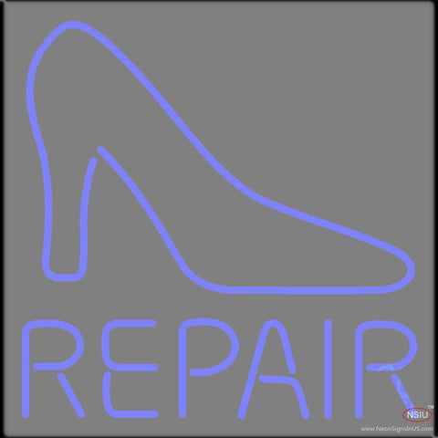Blue Shoe Repair With Sandal Real Neon Glass Tube Neon Sign