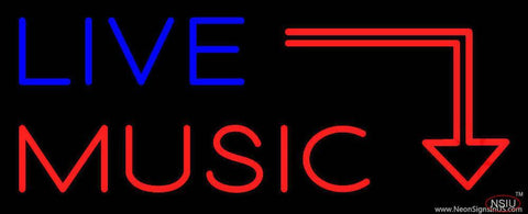 Live Music Real Neon Glass Tube Neon Sign