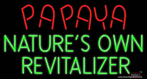 Papaya Natures Own Revitalize Real Neon Glass Tube Neon Sign