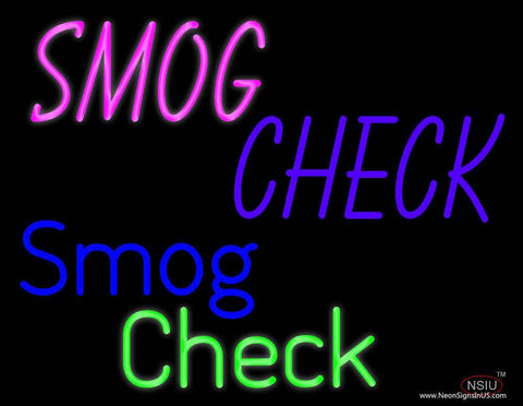 Smog Check Smog Check Real Neon Glass Tube Neon Sign