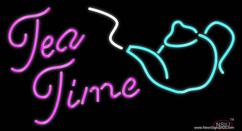 Tea Time Real Neon Glass Tube Neon Sign