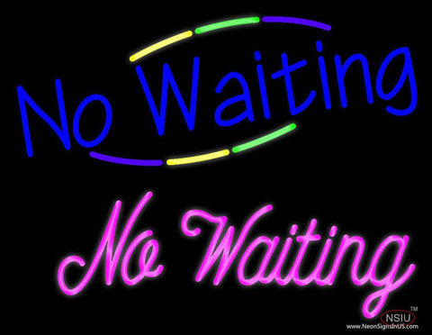 Waiting No Waiting Real Neon Glass Tube Neon Sign