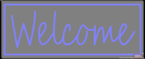Welcome Real Neon Glass Tube Neon Sign