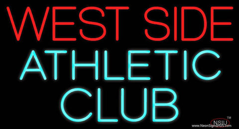 West Side Athletic Club Real Neon Glass Tube Neon Sign
