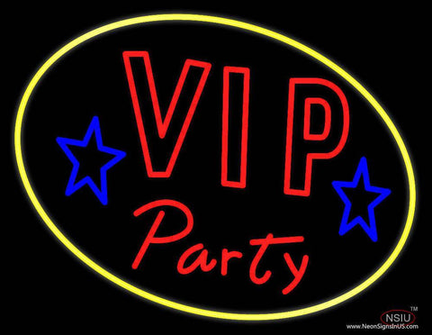 Vip Party Real Neon Glass Tube Neon Sign