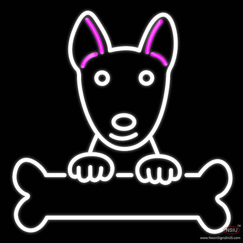 Bull Terrier Poster Real Neon Glass Tube Neon Sign