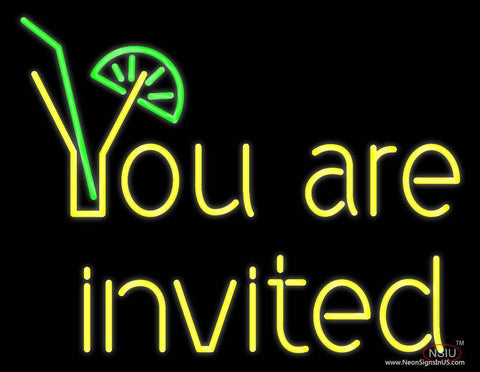 You Are Invited Real Neon Glass Tube Neon Sign