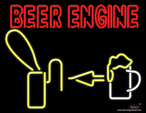 Beer Engine Real Neon Glass Tube Neon Sign