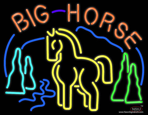 Big Horse Real Neon Glass Tube Neon Sign