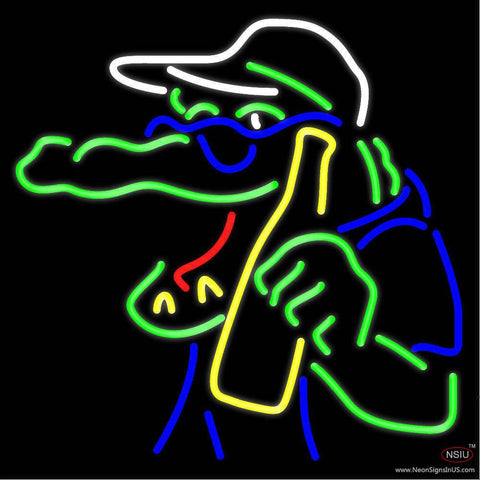 Gator Beer Real Neon Glass Tube Neon Sign