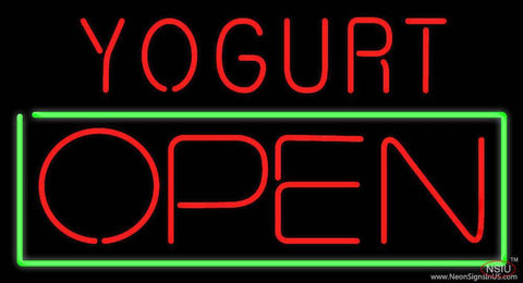Yogurt Open Real Neon Glass Tube Neon Sign