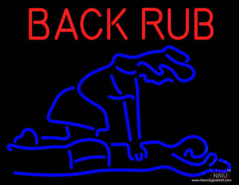 Back Rub With Logo Real Neon Glass Tube Neon Sign