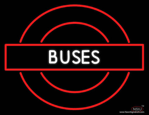 Buses Roundel Logo Real Neon Glass Tube Neon Sign