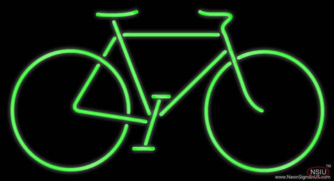 Bicycle Green Real Neon Glass Tube Neon Sign