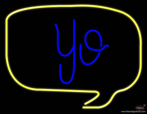 Yo Real Neon Glass Tube Neon Sign