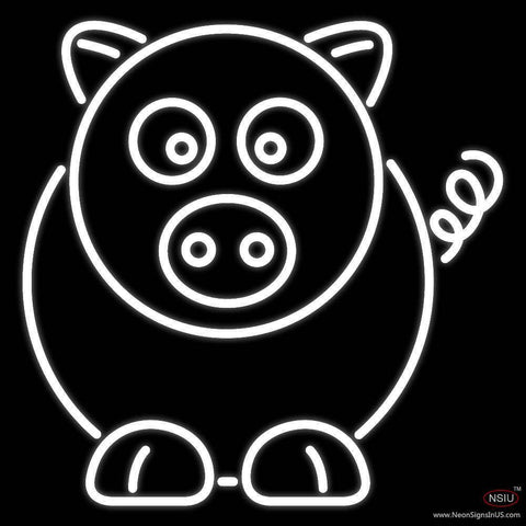 Cartoon Pig Real Neon Glass Tube Neon Sign