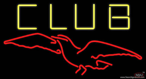 Club Revens Bird Real Neon Glass Tube Neon Sign