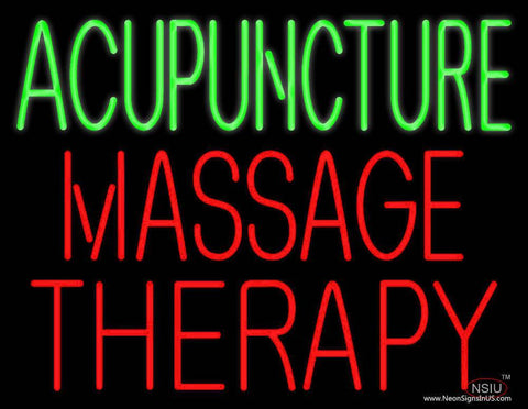 Acupuncture Massage Therapy Real Neon Glass Tube Neon Sign