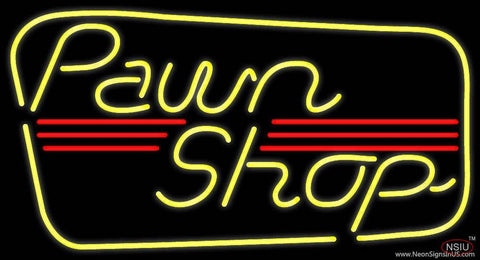 Yellow Pawn Shop Real Neon Glass Tube Neon Sign