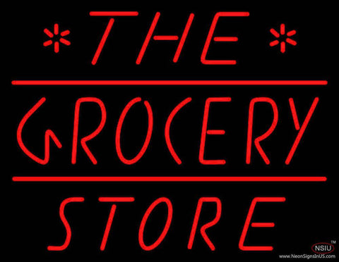 The Grocery Store Real Neon Glass Tube Neon Sign