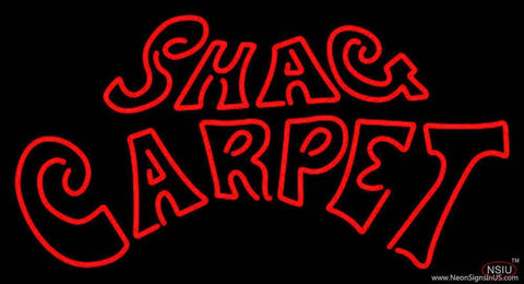 Shag Carpet Real Neon Glass Tube Neon Sign