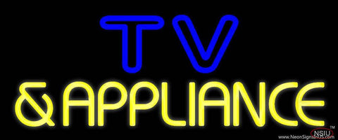 Tv And Appliance  Real Neon Glass Tube Neon Sign