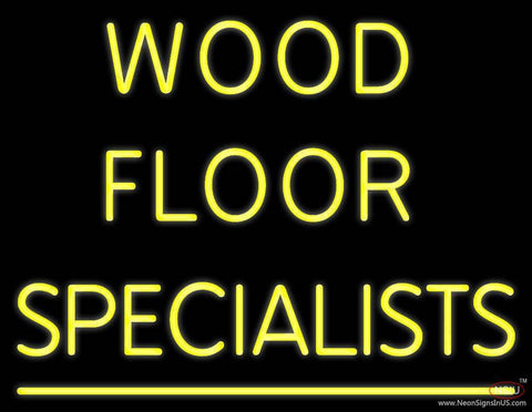 Wood Floor Specialist Real Neon Glass Tube Neon Sign