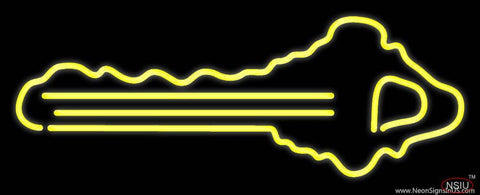 Yellow Key Logo Real Neon Glass Tube Neon Sign