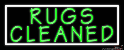 Rugs Cleaned  Real Neon Glass Tube Neon Sign