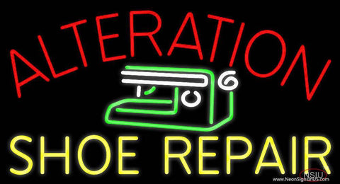 Alteration Shoe Repair Real Neon Glass Tube Neon Sign