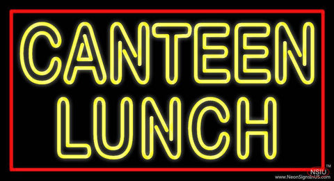 Double Stroke Canteen Lunch Real Neon Glass Tube Neon Sign